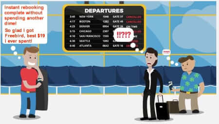 Flight Delayed or Cancelled? $19 Gets You Rebooked with No Extra Ticket Cost, No Lines, and No Hassle!