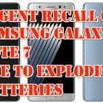 Samsung Issues Urgent Recall Due to Exploding Batteries in Galaxy Note 7