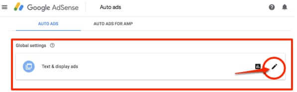 google adsense auto ads settings