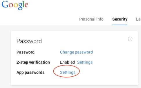 how to change google password on phone