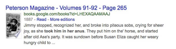 google arms to anus