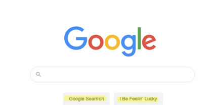 google search I be feelin lukcy