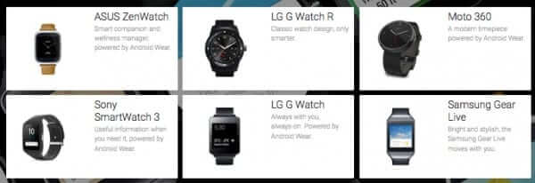 google wear watches