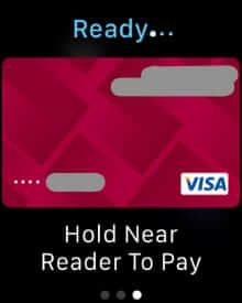 hold watch near reader apple pay