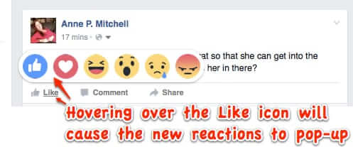 how to access new facebook reactions