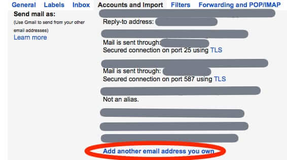 add another email address you own gmail