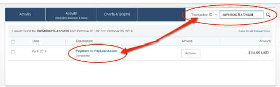 how to cancel paypal subscription transaction id number