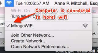 how to connect to hotel wireless network
