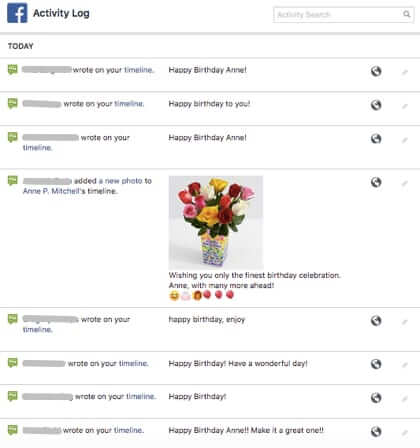 how to deal with facebook birthday messages
