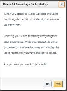 how to delete amazon echo alexa voice recordings