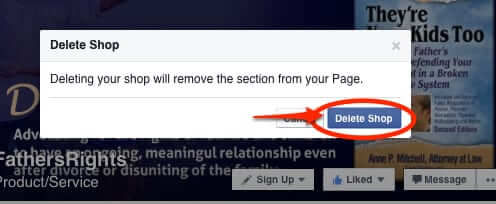 how to delete facebook shop from your page