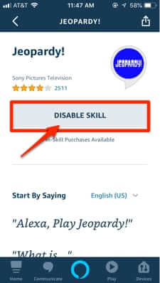 how to disable alexa skill-1