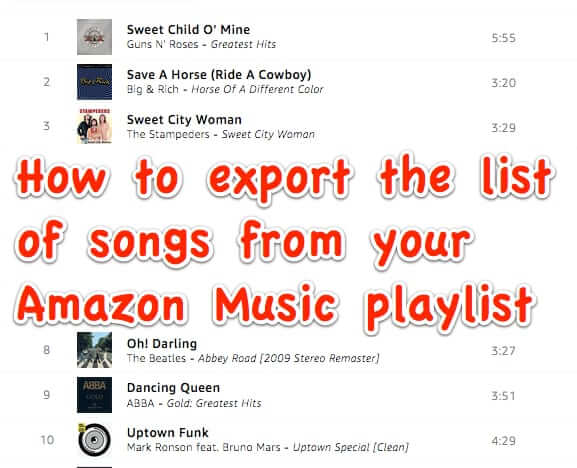 Here's How to Export Your Amazon Music Playlist List