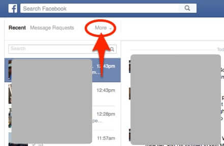 how to find facebook other filtered folder click more
