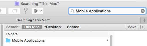 how to find mobile applications folder mac