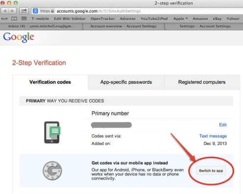 how to find qr barcode google two factor authentication