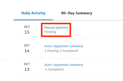 how to make a manual extra payment paypal loan working capital