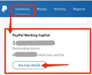 how to make a manual loan payment on paypal working capital loan