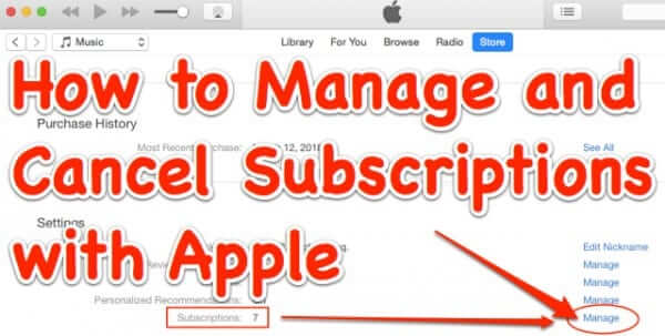 How to Change or Cancel Recurring Charge Automatic Payment Subscriptions with Apple