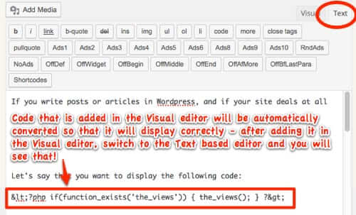 how to publish display code wordpress