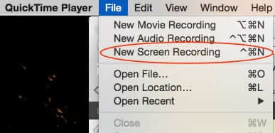 how to stop a quicktime screen recording