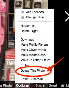 how to remove picture from facebook post without removing post