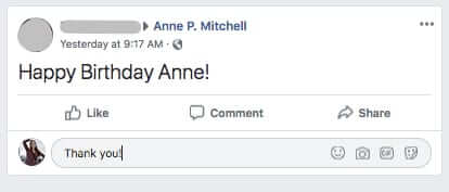how to respond to facebook birthday messages