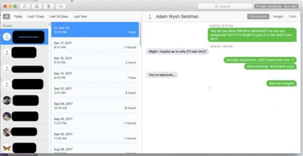 how to search mac messages chatology
