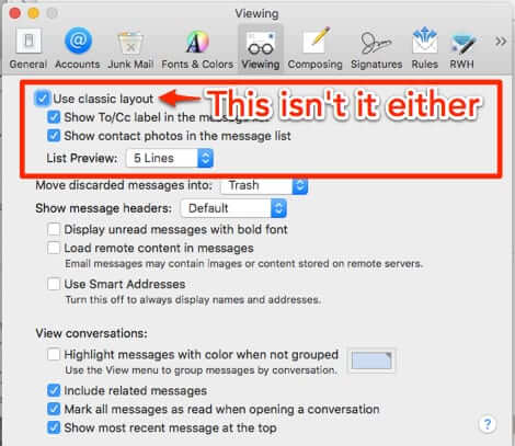 How to Get Mac Mail to Show Threaded Conversations and How to Turn