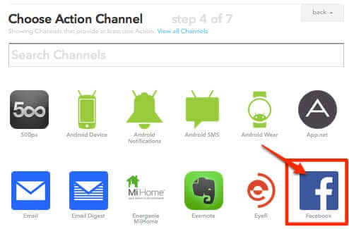 ifttt recipe action channel