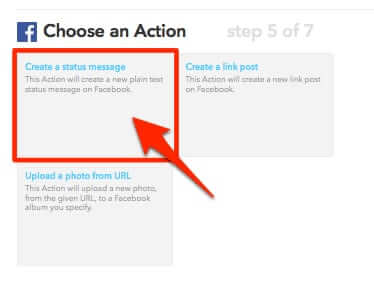ifttt recipe choose action