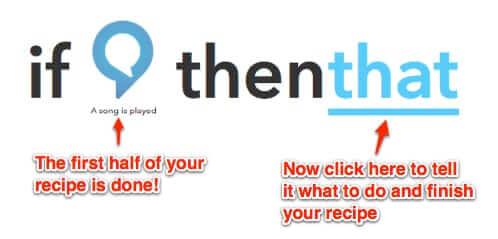 ifttt recipe half done