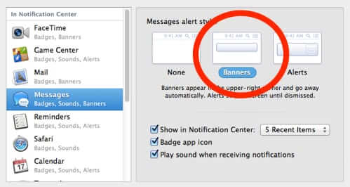 imessage preferences alert settings