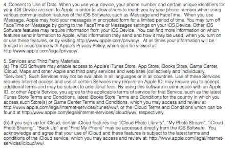 Full Text of iOS 9 User Agreement - Part 2