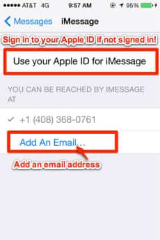 how to connect phone number to imessage on macbook