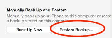 iphone restore backup