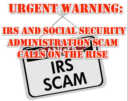 irs social security administration ssa scam phone call