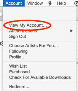 itunes account view my account