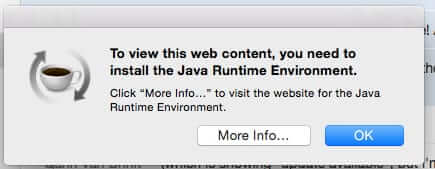 How to Fix the Mac OS X Java Runtime Environment JRE Error