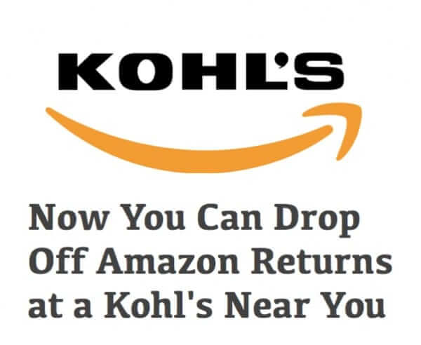 Now You Can Drop Off Amazon Returns at a Kohl's Near You