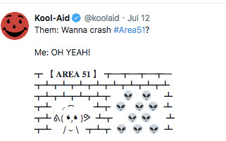 kool-aid want to go crash area 51