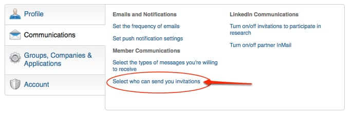 linked in who can send you invitations