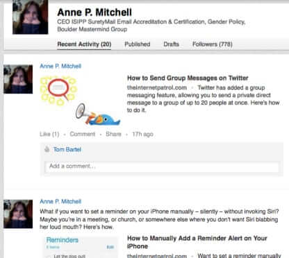 linkedin wall anne p mitchell