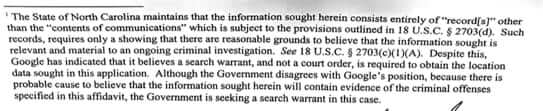 location based search warrant