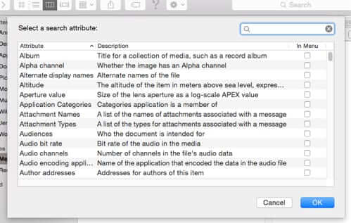 mac finder advanced search kind other options