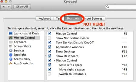 mac keyboard shortcut settings