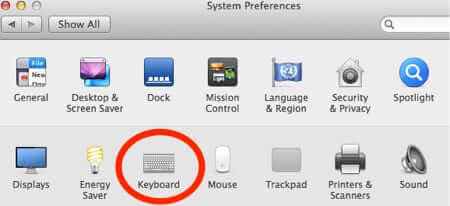 mac keyboard system preferences