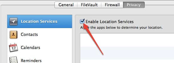 mac location services