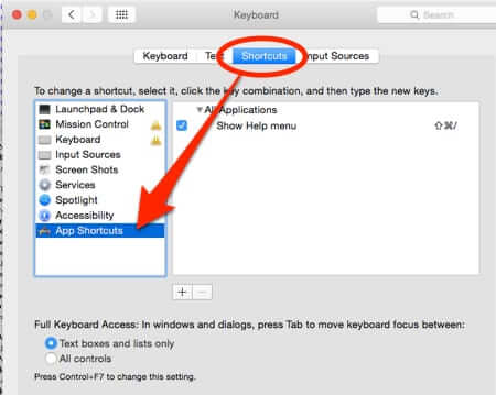 mac preferences keyboard shortcuts