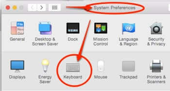 mac system preferences keyboard